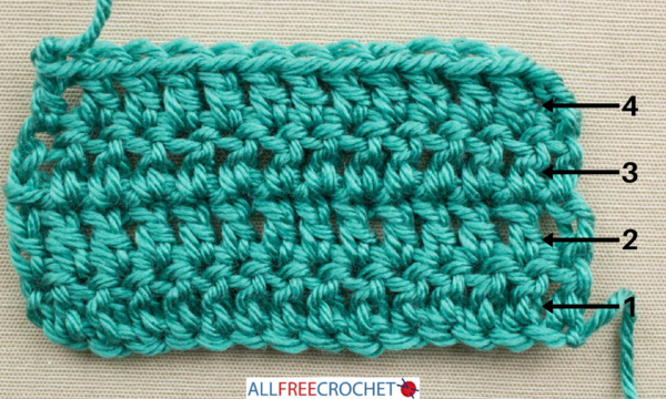 How to Count Crochet Rows - Double Crochet