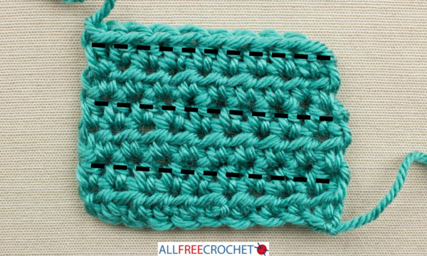 How to Count Crochet Rows - Half Double Crochet