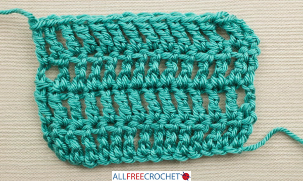 How to Count Crochet Rows - Triple Crochet