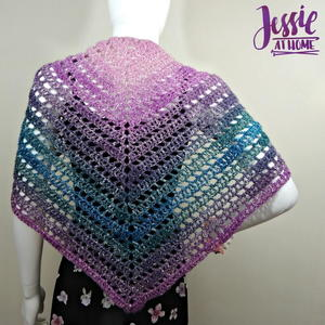 Ball of Ladders Crochet Shawl