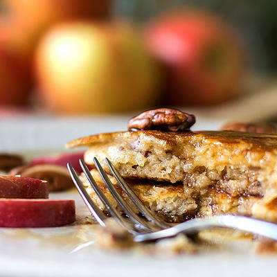 Apple Buttermilk Pancakes with Pecans