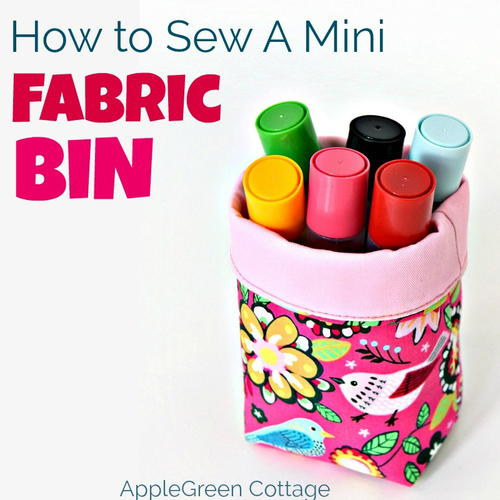 Cutest Fabric Bin Tutorial