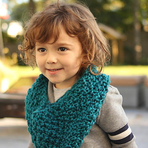Kids Moss Stitch Cowl