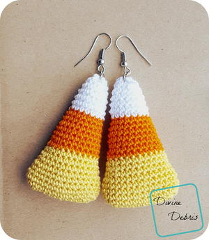 Crochet Candy Corn Earrings