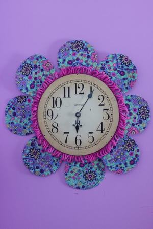 Pretty Petals DIY Wall Clock