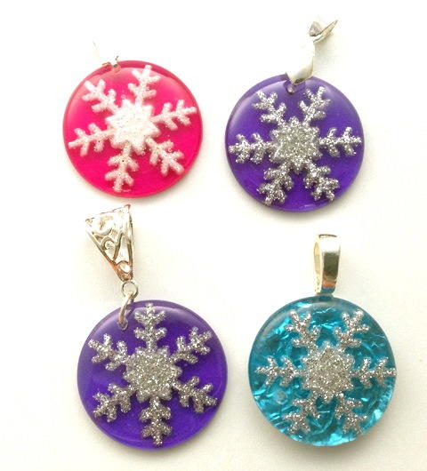 Snowflake Resin Jewelry Tutorial