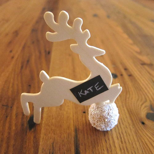 Reusable Reindeer Place Markers