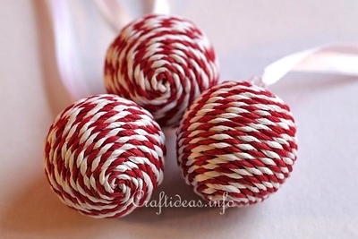Peppermint Striped Christmas Ornament