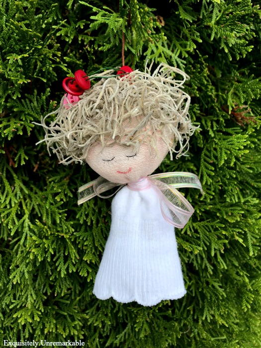 Sweet Sock Angel Ornament Allfreechristmascrafts Com