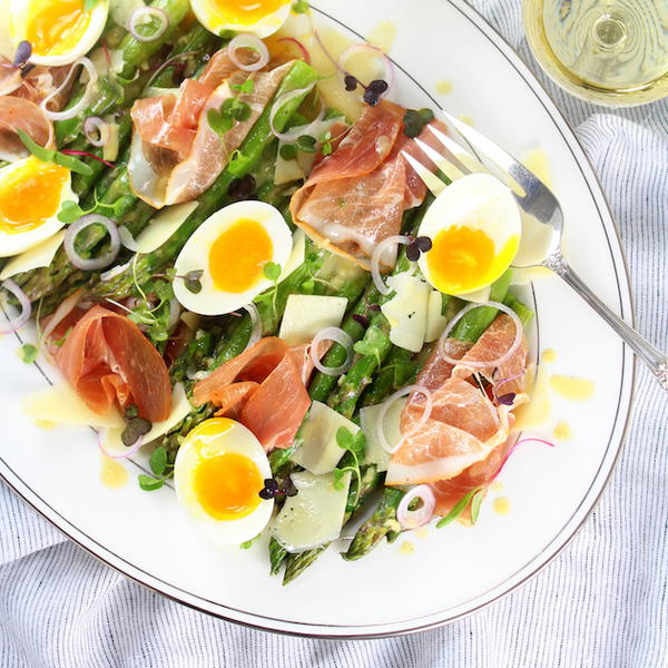 Asparagus Salad with Eggs and Prosciutto