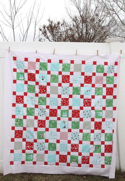 Christmas Cornerstone Quilt Tutorial
