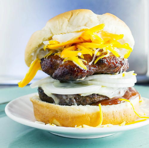 The Black and Gold Burger: Steelers Fan Burger