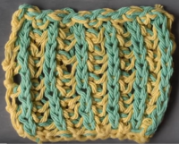 How to Knit Two-Color Brioche Stitch