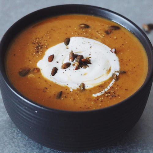 Paleo Pumpkin Soup With Bone Broth and Coconut Milk