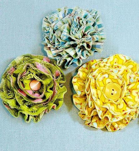 tattered flowers for embellishment allfreesewingcom