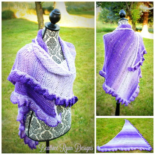 Fades of Purple Shawl