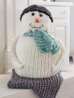 Chunky Knitted Snowman