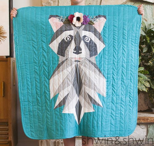 Woodland Raccoon Quilt Pattern