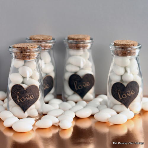Easy Milk Bottle Wedding Favors