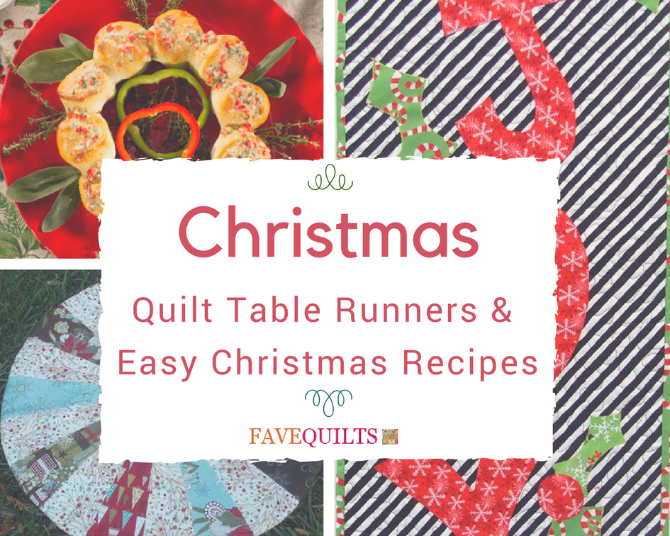 Christmas quilt table runner patterns and easy christmas for Instructions to make christmas table decorations