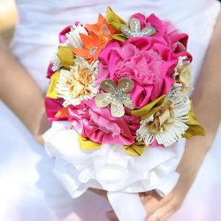 Fantasy Fabric Floral Bouquet