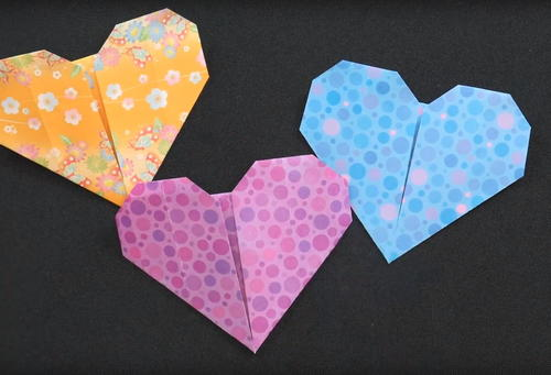 easy origami hearts favecraftscom