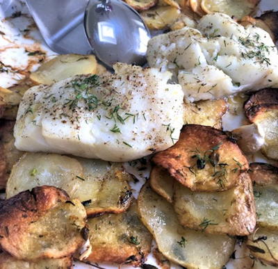 Easy Cod and Potatoes