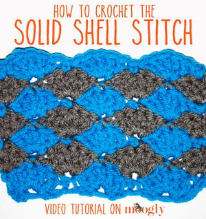 Solid Shell Crochet Stitch Tutorial