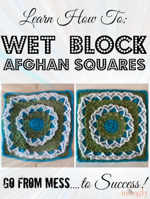 Wet Block Crochet Afghan Squares Tutorial