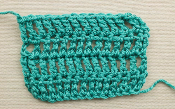 Example of the Triple Crochet Stitch