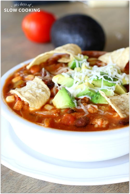 Creamy and Skinny Taco Chili Soup