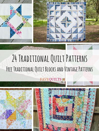 24 Traditional Quilt Patterns Free Traditional Quilt Blocks and Vintage Patterns