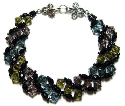 Chic Stripes Crystal Bracelet
