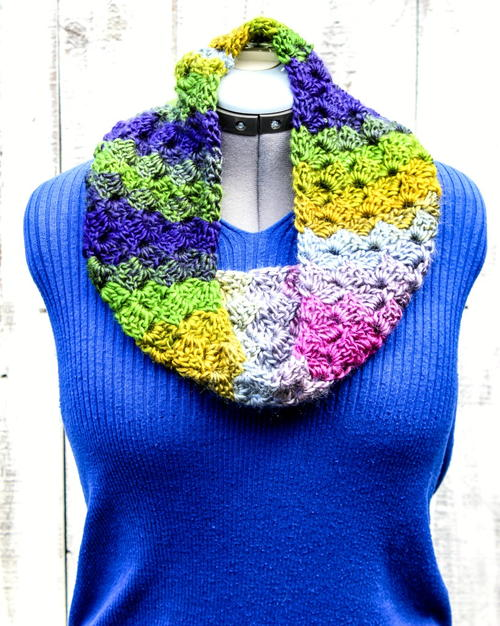 Crochet Cross Hatch Stitch Cowl