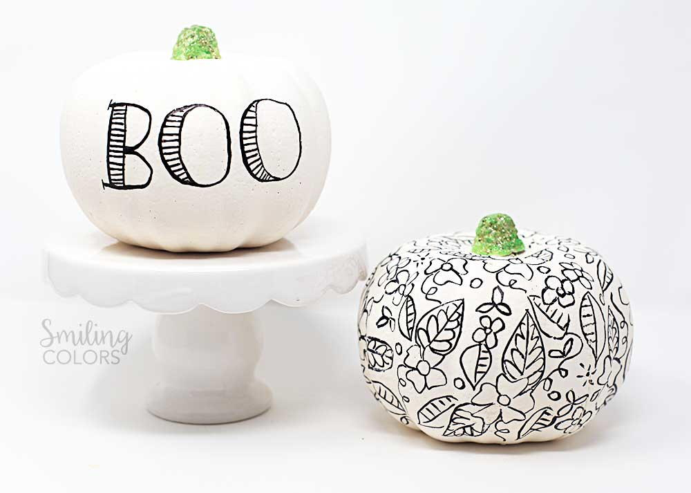 Lettering and Doodling on a Pumpkin