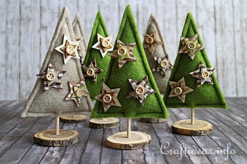 Felt Christmas Trees Decoration