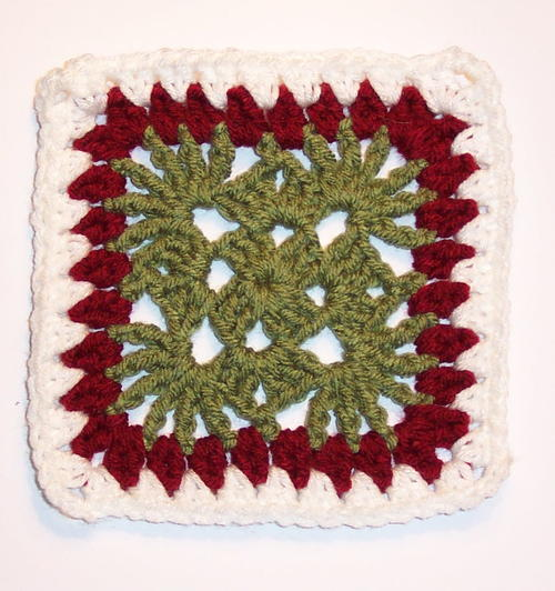 Cranberry Christmas Granny Square