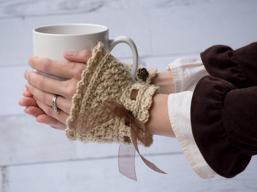"Ribbons And Grace ""Wristers"" Crochet Cuffs"