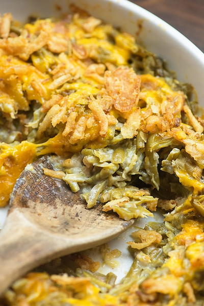 Easy Green Bean Casserole with Bacon