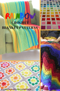 12 Rainbow Crochet Blanket Patterns
