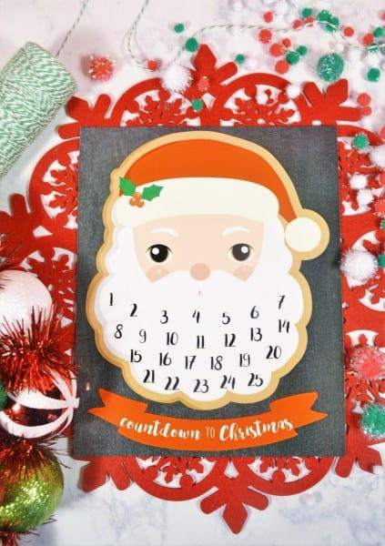 Printable Santa Claus Advent Calendar