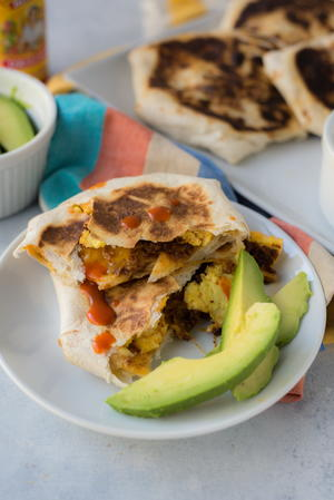 Handheld Breakfast Quesadillas
