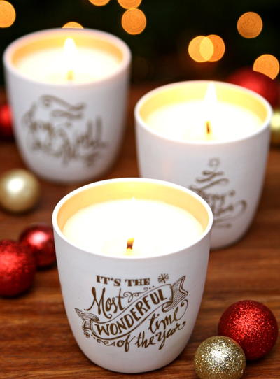DIY Christmas Soy Candles