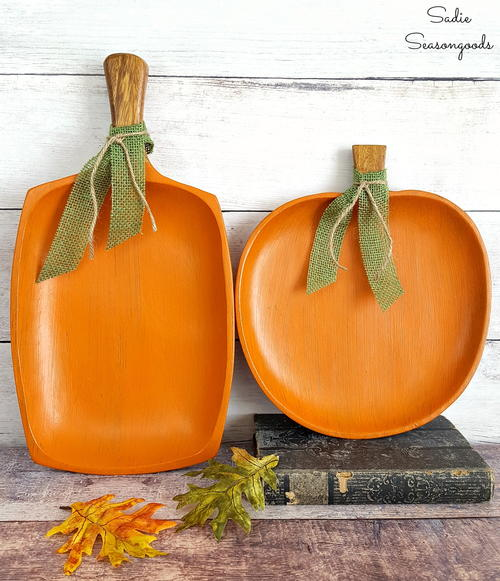 Autumn Pumpkin Tray Decor