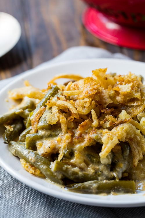 Slow Cooked Green Bean Casserole