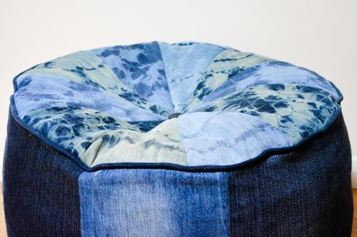 denim large floor cushion