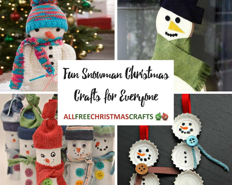 amazing craft ideas 50 snowman crafts for everyone 1038