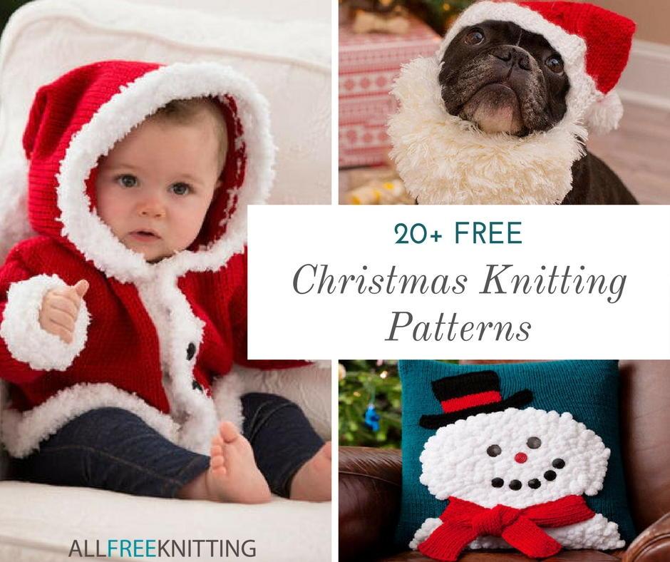 20 Free Christmas Knitting Patterns Santas Reindeer