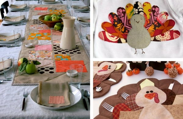 Quilted thanksgiving crafts and turkey appliques favequilts
