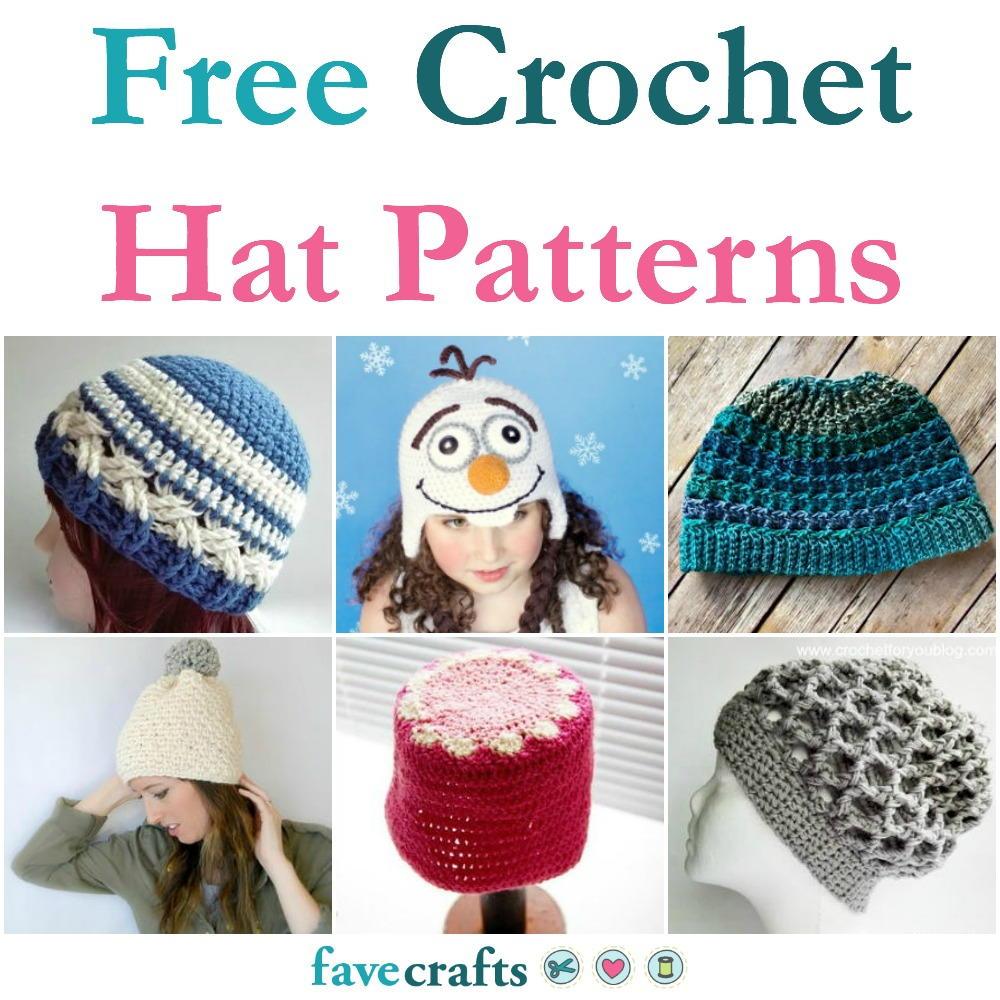 48 Free Crochet Hat Patterns | FaveCrafts.com - photo #19